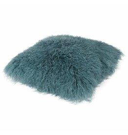 Pillow of Tibetan coat Turquoise