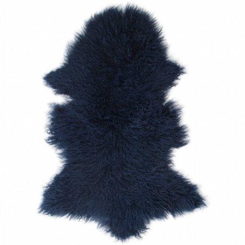 Schaffell tibetisch dunkelblau