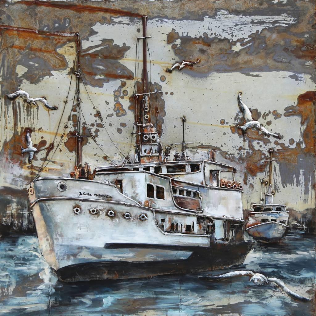 Eliassen 3D-Gemälde Metall Trawler 100x100cm