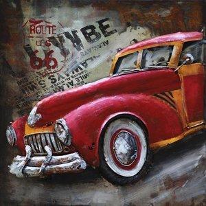 Eliassen Metal 3d painting 60x60cm Incoming car