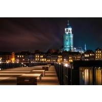 Fotomalerei auf Leinwand 114x80cm Amsterdam bei Nacht