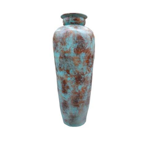 Eliassen Interieur Vaas  Glato 120cm Oud turquoise
