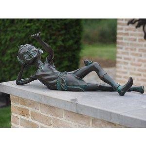 Bronzen pixie liggend