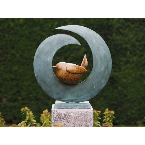 Bronzen vogel modern