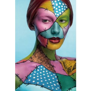 Painting photo glass Colorful 80x120cm