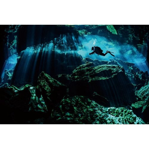 Painting glass photo Cave 80x120cm