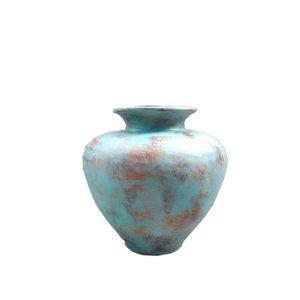 Eliassen Interior Vase Polos Old turquoise 70x80cm