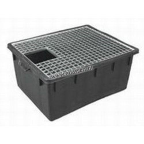 Rectangle water container + grate 150 ltr combination