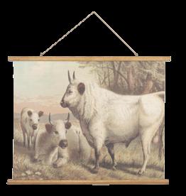 Eliassen Wandkarte Vieh 100x75cm