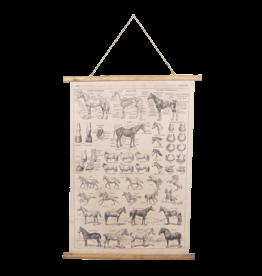 Eliassen Wandkarte Pferde 100x75cm