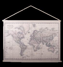 Eliassen Wandkaart Wereld1 154x106cm