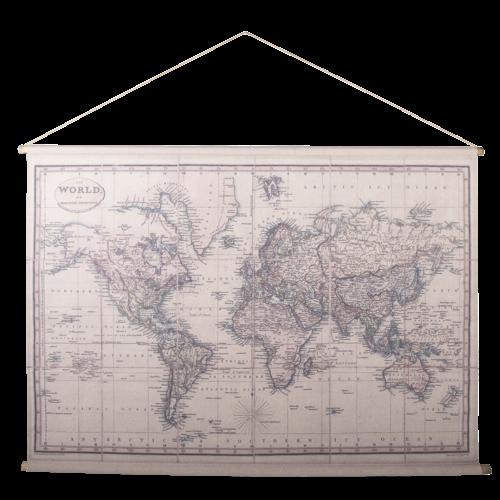 Eliassen Wall map Wereld1 154x106cm