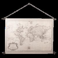 Wandkarte Wereld2 130x87cm