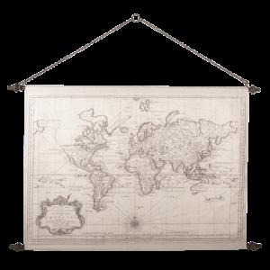 Eliassen Wall map World2 130x87cm