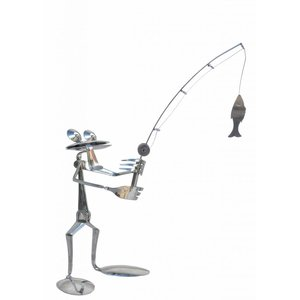 Frog figure stainless steel William the fisherman
