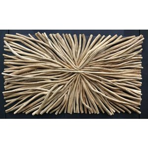 Wooden Wall Panel Branch rectangle