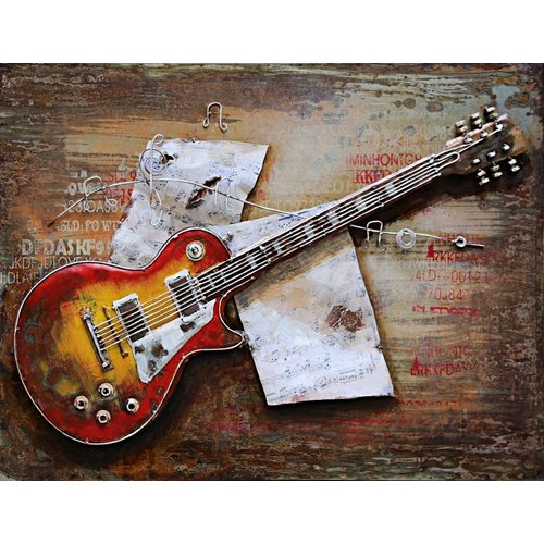 3D-Malerei 80x120cm Gitarre