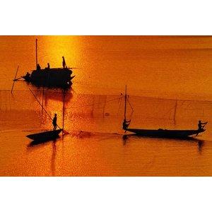 Wandkraft Wandkraft glass painting waterland 118x70cm