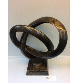 Eliassen Bronzen beeld Dubbel ring XL