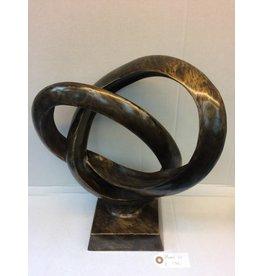 Eliassen Bronzestatue Doppelring XL
