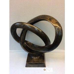 Eliassen Bronzeskulptur Doppelring XL