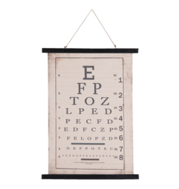 Eliassen Wandkaart Letters  55x75cm