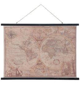 Eliassen Wandkaart Wereld3  105x76cm