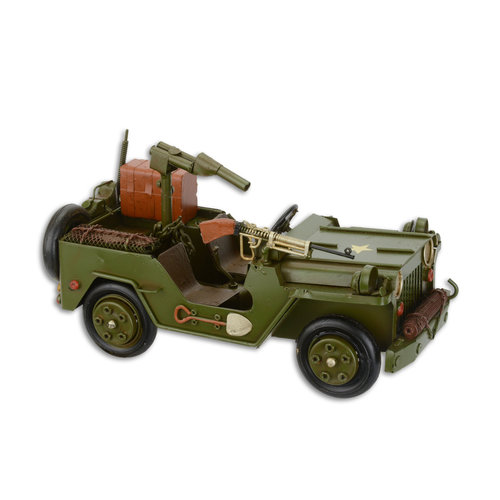 Eliassen Miniature model Jeep with gun