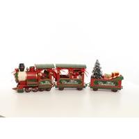 Miniature model Christmas train look