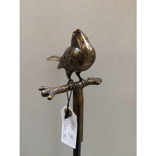 Eliassen Bronze garden stick sparrow
