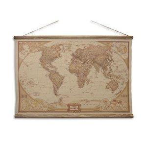 Eliassen Wall map The World 90x63cm