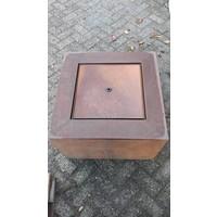 Wassertisch Corten Stahl Andrew 60x60cm