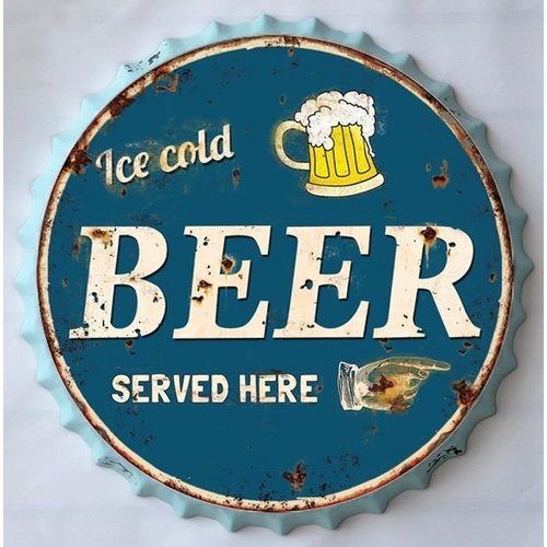 Beer cap 35cm wall decoration Ice cold
