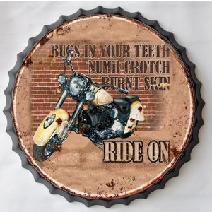 Wall decoration beer cap Ride on