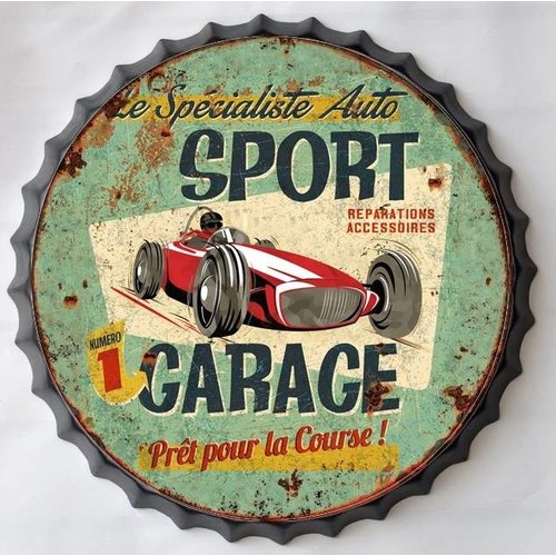 Wall decoration beer cap Sport