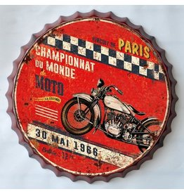 Wanddekoration Bierflasche Kappe Moto