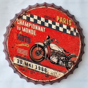 Wall decoration beer cap Moto