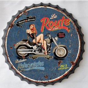 Wall decoration beer cap La Route