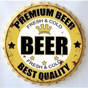 Wanddekorationen Bierflasche Kappe Bier
