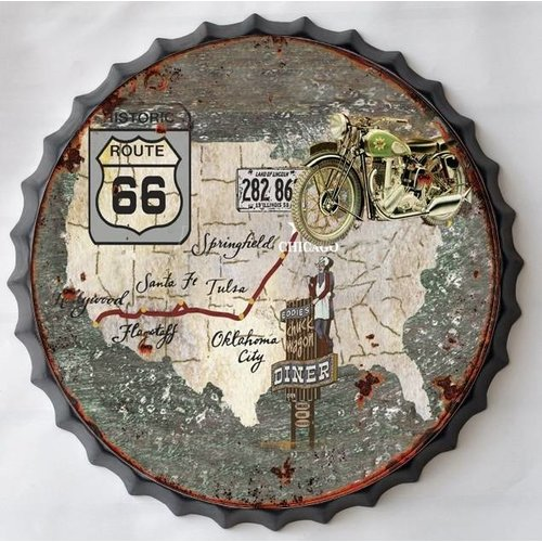 Wall decoration beer cap USA