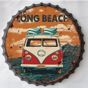 Wall decoration beer cap Long beach