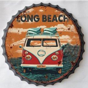 Wanddecoratie bierdop Long beach