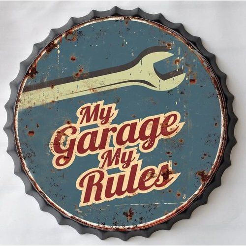Wall decoration beer cap My Garage