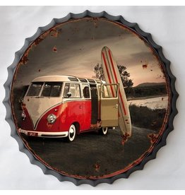 Wall decoration beer cap Surf
