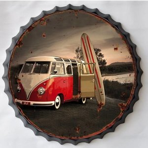 Wall decoration beer cap Surfing