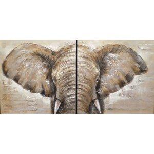 Ölgemälde 2 Luke Elefant 100x100cm