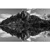 Glasmalerei Berge 148x98cm