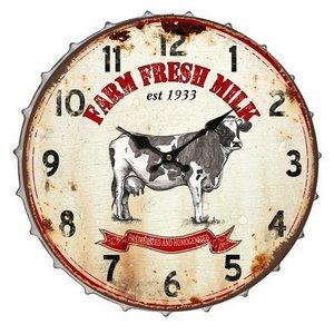 Eliassen Wall clock beer bottle Farm