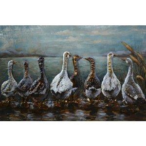 3D painting metal Ducks
