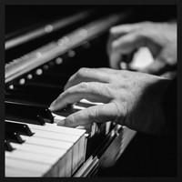 Malerei Forex Pianist 74x74cm